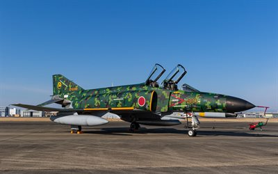 mcdonnell douglas f-4 phantom ii, f-4ej, jagdbomber, jasdf, japanische militärflugzeuge, japan air self-defense force