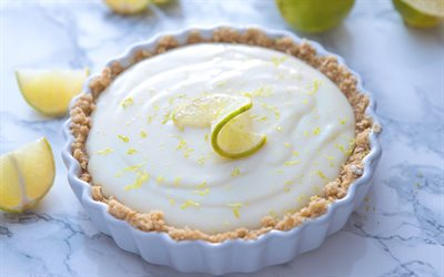 lemon pie, cream, lemon, pastries, lemon cake, sweets