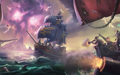 Sea Of Thieves, 4k, action, adventure, 2017 games