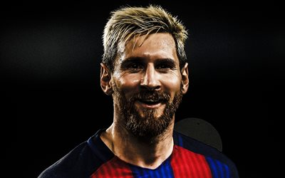 Lionel Messi, smile, football stars, FC Barcelona, soccer, Leo Messi