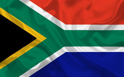 South Africa flag, silk, Africa, world flags