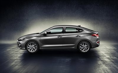Hyundai i30 Fastback, 2018, Side view, new cars, i30, Korean cars, Hyundai
