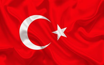 Turkish flag, Europe, Turkey, world flags, Turkey flag
