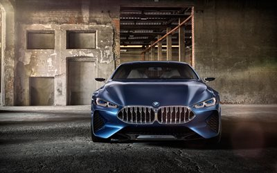 4k, BMW 8-Series, 2017 cars, german cars, BMW 8, supercars, BMW