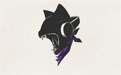 Monstercat, retro, logo, arte