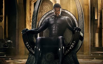 Black Panther, 4k, action, 2018 movie, Chadwick Boseman