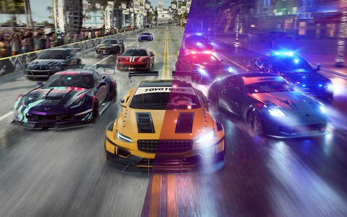Need For Speed Heat, poster, 2019 games, NFS, racing simulator, NFSH