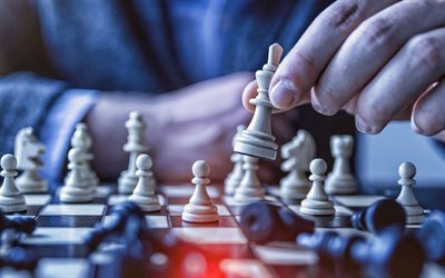 chess in hands, businessman, management concepts, business, chess, chess pieces, business people, management