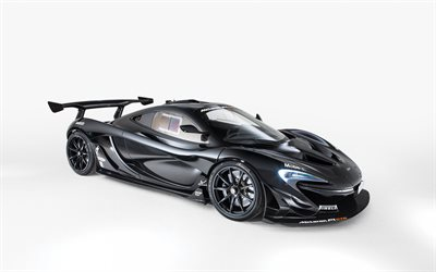 McLaren P1 GTR Road, Lanzante, black supercar, tuning P1, new black P1, black sports coupe, British sports cars, McLaren