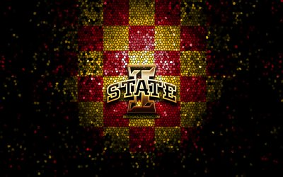 download wallpapers iowa state cyclones glitter logo ncaa red yellow checkered background usa american football team iowa state cyclones logo mosaic art american football america for desktop free pictures for desktop free download wallpapers iowa state cyclones