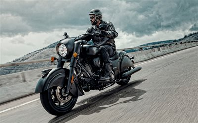 2020, Indian Chief Dark Horse, exterior, matte black motorcycle, new black Chief Dark Horse, american motorcycles, Indian