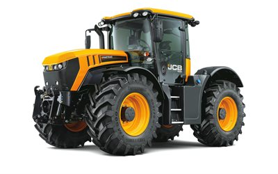JCB Fastrac 4220, large tractor, new Fastrac 4220, agricultural machinery, tractor on white background, JCB, tractors