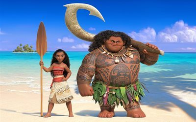 moana, 2016, walt disney, cartoon