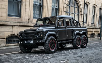defender, tuning, kahn design, pickup, land rover, fiying huntsman