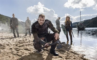 gustaf skarsgard, canadian-irish tv series, swedish actor, vikings, floki