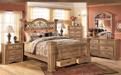 bedroom interior, chest, dressing table