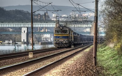 railroad, locomotive, czech republic