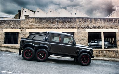 land rover, tuning, kahn design, pickup, defender, fiying caçador
