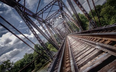 railroad, transport, bridge
