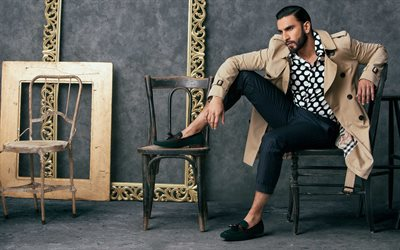 4k, Ranveer Singh, 2018, Bollywood, indian actor, Maxim, photoshoot, guys, celebrity
