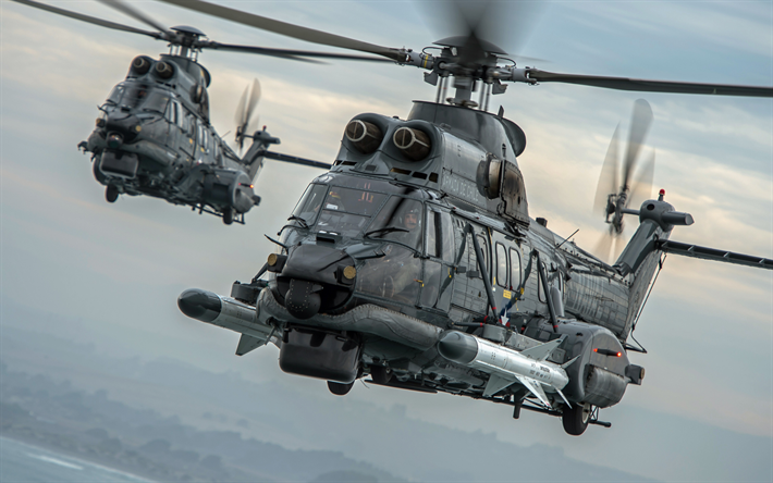 Eurocopter EC225, military transport helicopter, Chilean Navy, H225M, Airbus Helicopters, military helicopter, Chile