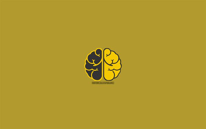 thumb2 yellow brain 4k mind concept minimal creative