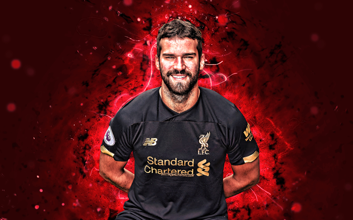 Download Wallpapers 4k, Alisson Becker, Season 2019-2020