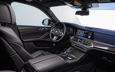 2020, BMW X6, M50i, interior, inside view, front panel, new X6, german cars, BMW