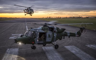 Westland Lynx, british military helicopter, military airfield, British Army, British Air Force