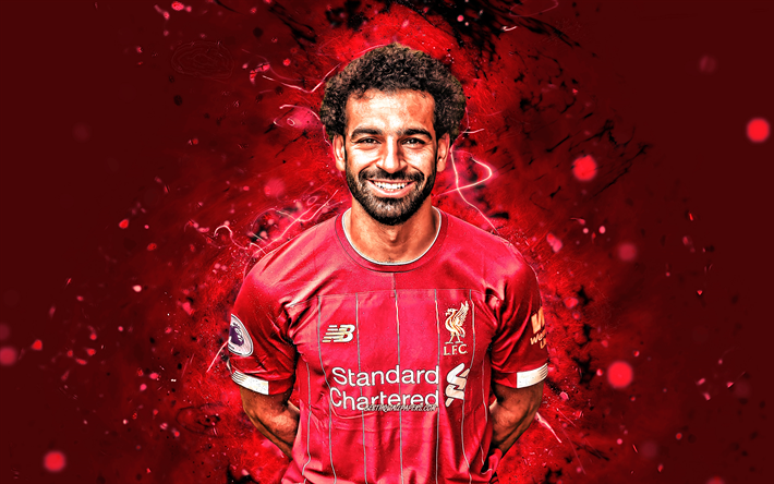 Download Wallpapers 4k Mohamed Salah Season 2019 2020 Egyptian Footballers Forward Liverpool Fc Neon Lights Mohamed Salah Hamed Mahrous Ghaly Soccer Lfc Premier League Mo Salah Football Liverpool Mohamed Salah 4k For Desktop