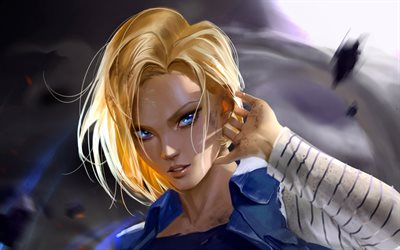 Android 18, manga, DBS personnages, Dragon Ball, œuvres d'art, Dragon Ball Super, DBS, art 3D