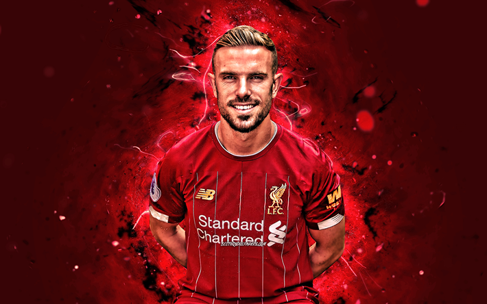 Download Wallpapers 4k Jordan Henderson Season 2019 2020 English Footballers Midfielder Liverpool Fc Neon Lights Jordan Brian Henderson Soccer Lfc Premier League Football Liverpool For Desktop Free Pictures For Desktop Free