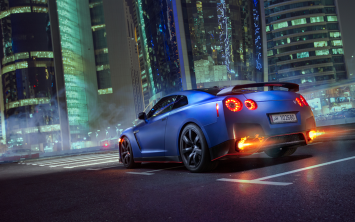 Download Wallpapers 4k Nissan Gt R Parking R35 Supercars