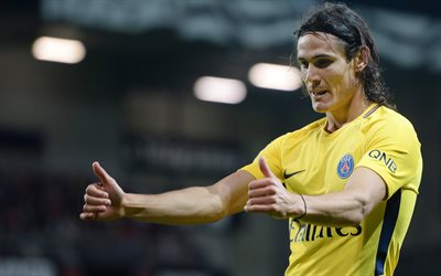 Edinson Cavani, 4k, match PSG, footballers, soccer, Ligue 1, Paris Saint-Germain, Liga 1
