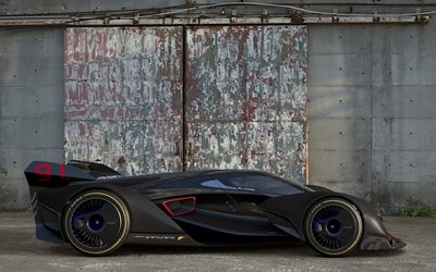 McLaren Ultimate, Vision Gran Turismo, 2017, Concept, side view, supercar, racing cars