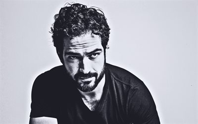 Alfonso Herrera, 2020, mexican actor, guys, mexican celebrity, Alfonso Herrera Rodriguez, monochrome, Alfonso Herrera photoshoot