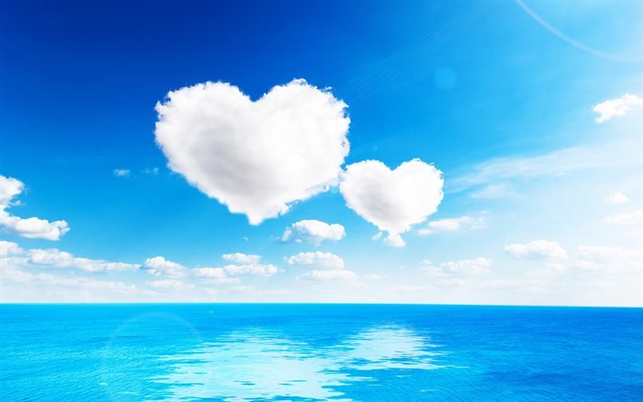 Download wallpapers clouds sea clouds heart white heart a love clouds sea clouds heart white heart a love scene we offer you to download wallpapers voltagebd Images