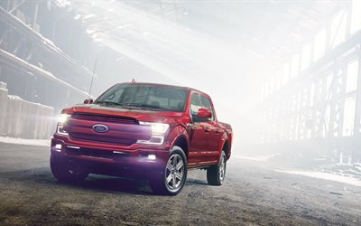 Ford F-150, SUVs, 4k, 2018 cars, pickups, Ford