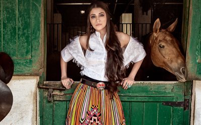 Anushka Sharma, Bollywood, actress, photoshoot, Vogue India, brunette