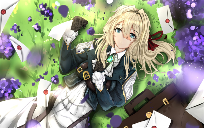 Download wallpapers Violet Evergarden, Japanese manga ...