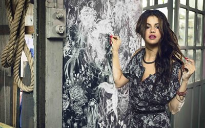 Selena Gomez, photoshoot, portrait, american singer, beautiful woman