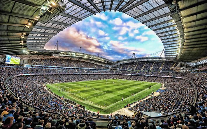 Descargar Fondos De Pantalla Etihad Stadium Estadio Lleno