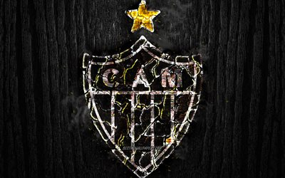 Download Wallpapers Atletico Mineiro Fc Scorched Logo Brazilian Seria A Black Wooden Background Brazilian Football Club Atletico Mg Grunge Football Soccer Atletico Mineiro Logo Fire Texture Brazil For Desktop Free Pictures For
