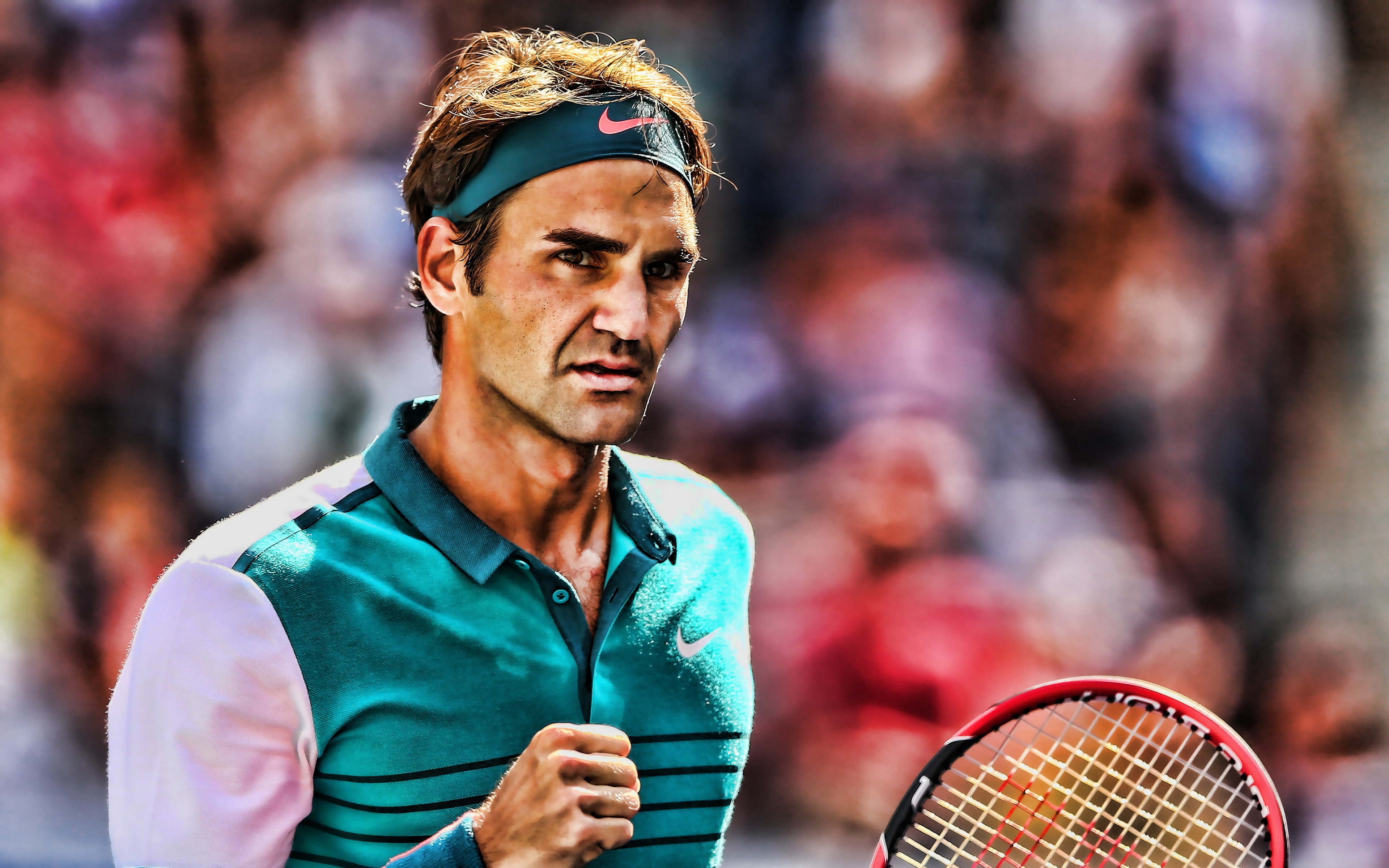 Download Wallpapers Roger Federer 4k Swiss Tennis Players Atp Match Athlete Federer Tennis Hdr For Desktop With Resolution 3840x2400 High Quality Hd Pictures Wallpapers