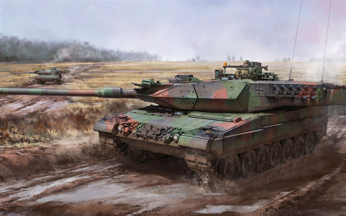 Leopard 2, MBT, Leopard 2A6, German main battle tank, Bundeswehr, German ground forces, Germany, tanks