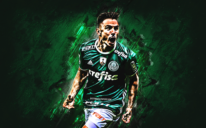 Download Wallpapers Willian, Green Stone, SE Palmeiras