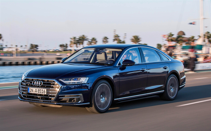 Audi A8 Best Luxury Cars: Download Wallpapers 4k, Audi A8, 2019 Cars, Movement, New