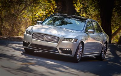 Lincoln Continental, 2017, 4k, luxury sedan, business class, new Continental, American cars, Lincoln