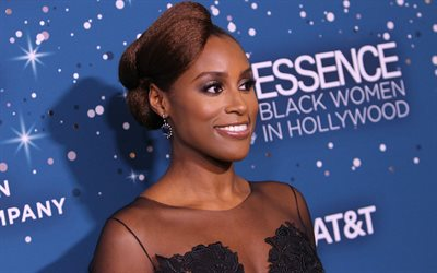 Issa Rae, 4k, american actress, Hollywood, brunette, beauty