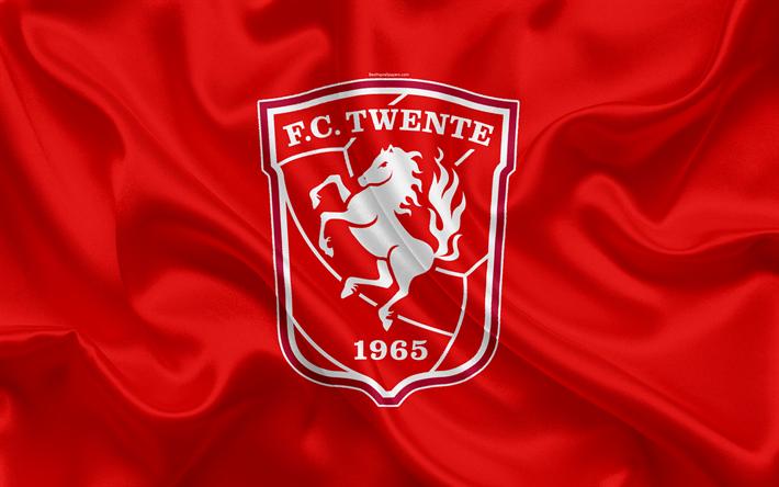 Download wallpapers Twente FC, 4K, Dutch football club, logo, emblem, Eredivisie, Dutch soccer ...